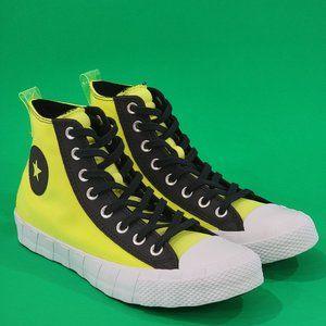 Converse Hi-Vis UNT1TL3D Unisex Yellow Sneaker NWT